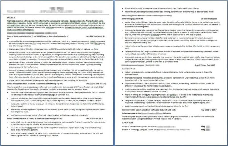 Resume Examples - 1 Technology Executive BEFORE - #profilesthatpop.com Jared J. Wiese - Resume Writing Services - LinkedIn Profile Writing Service - Career Coaching